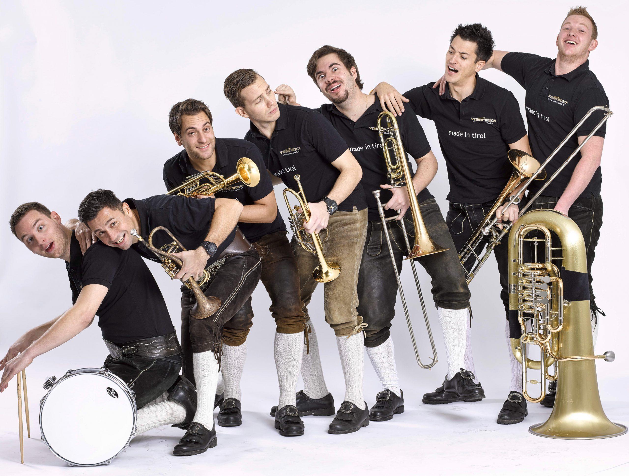 VIERA BLECH - Blasmusik der Spitzenklasse aus Tirol - live in Bad Tennstedt am 12.09.2020 - Vorverkauf zu unseren Proben, Veranstaltungen, über das Kontaktformular oder bei Musikinstrumente Thoß